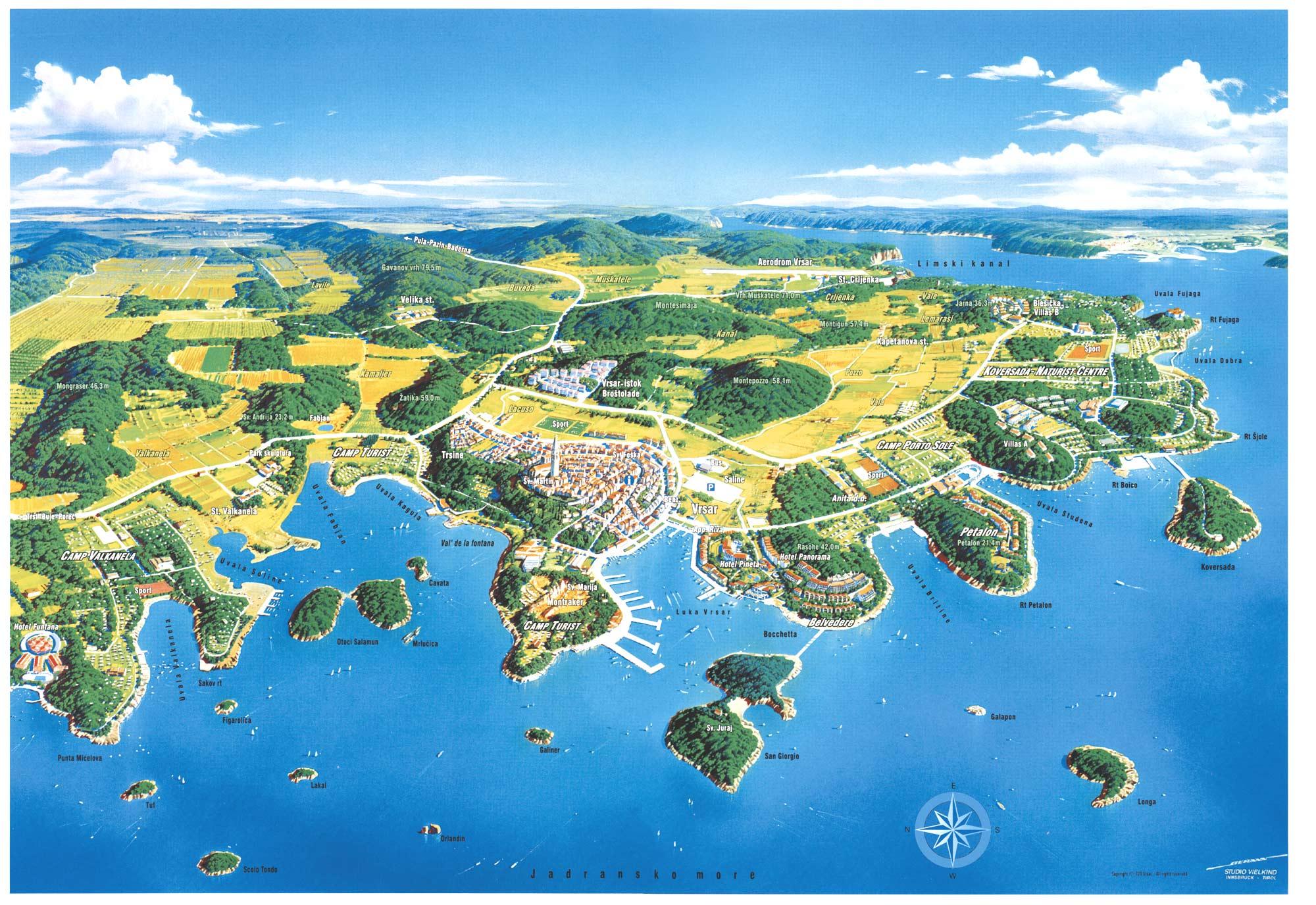 Chorvatsko Mapa Mapy Pro Cele Chorvatsko